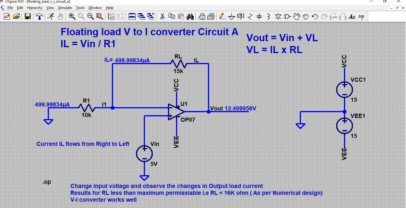 Inderjit Singh Linear Integrated Circuit Design Questions And Answers Voltage Limiter Simulation 1102 Floating Load To Current Converter Wrt Numerical In Licd 11 Handout A Doesnt Work As Max Value Of Rl Is
