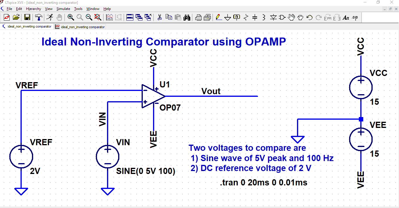 Inderjit Singh Linear Integrated Circuit Design Summing Amplifier Inverting Adder Using Op Amp 741 Pictures Simulation 1203 Input Output Waveforms For Ideal Non Comparator